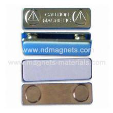 Magnetische Namensschilder mit Metallabdeckung
