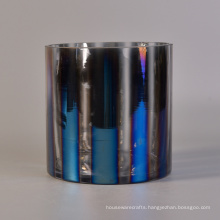 Glass Candle Holders with Electroplating Colors