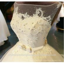 Vestimentes de noiva robe de mariage Robe de mariée en perles fait sur mesure en dentelle CWF2324