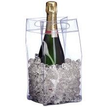 Plastic Waterproof PVC Wine Cooler Bag / PVC Cooler Wine Bag