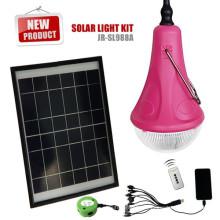 Recargables solares emergencia las luces interiores, luces solares de camping con mango