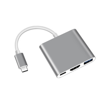 HDMI (4K) + PD + USB3.0에 고속 3in1 Type-C 허브