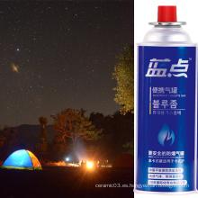 Jarrón de camping de gas butano con cartucho de gas de 400 ml