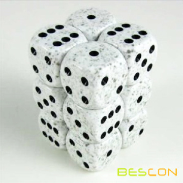 Custom Color Speckled Six Sided Dice 16MM