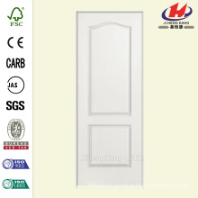 30 in. x 80 in. Solidoor Smooth 2-Panel Arch Top Solid Core Primed Composite Single Prehung Interior Door
