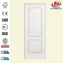 30 polegadas x 80 polegadas Solidoor Liso 2-Panel Arco Top Solid Core Primed Composto Single Prehung Porta Interior