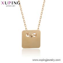 44936 Xuping Gros bijoux 18k plaqué or simple femmes colliers