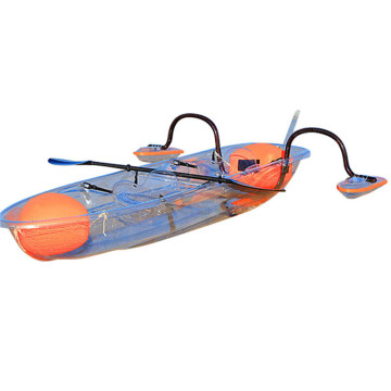 Canoa de 3 asientos Kayak Blue Ocean Glass Bottom