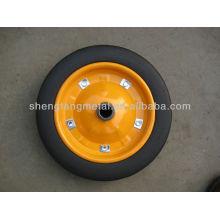 Rubber Powder Solid Wheel 13 Inches For Wheelbarrow/Hand truck