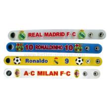 Logotipo personalizado impresso PVC pulseira com pressão