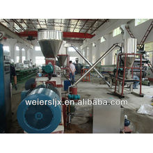 effective twin screw extruder wood plastic recycling machine