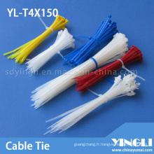 Utilisation unique d'attaches de câble en nylon (YL-T4X150)