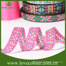 Kundenspezifisches Textilgewebeband / Polyesterjacquardholz bestickte Band