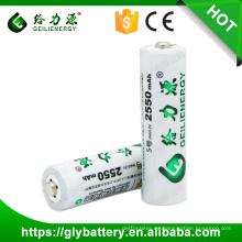 Geilienergy 1.2V 2550mAh AA nimh batería de batería recargable
