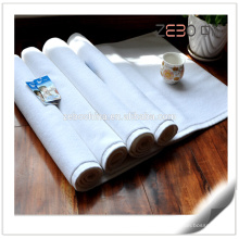 Rectangle Thickness Cotton Fabric Hotel Used White Custom Bath Mat