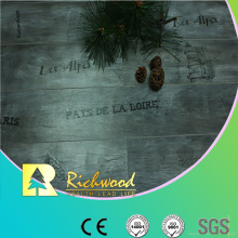 Commrcial 8.3mm Pearl Walnut V-Grooved Waxed Edge laminado pisos