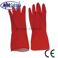 NMSAFETY china red long household latex washing dish gloves