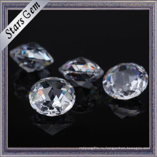 Высокое качество чистый белый цвет Бриллиантовая огранка кубический цирконий CZ камни для продажи