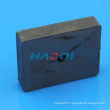 Aimants rectangulaires de ferrite en céramique de haute qualité