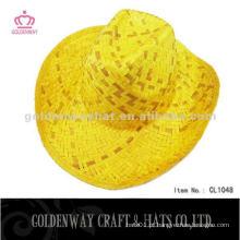 2012 chapéu de palha de cowboy amarelo quente