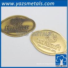 personalize etiquetas de móveis de metal com emblema