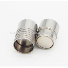 BX001 2/3/4/5/6/7 / 8MM Cierre magnético del acero inoxidable para la joyería de cuero DIY de la pulsera de la cuerda Aprecia la muestra libre OEM logo
