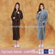 albornoz de lana de coral personalizado super suave barato adultos de las niñas