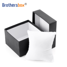 Factory Custom Logo Luxury High End Paper wrapped Black Cardboard Watch Packaging Box