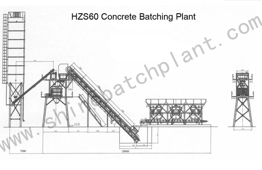 Drawing Concrete Batch Plant 60