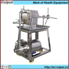 Prato de aço inoxidável e moldura máquina de filtro