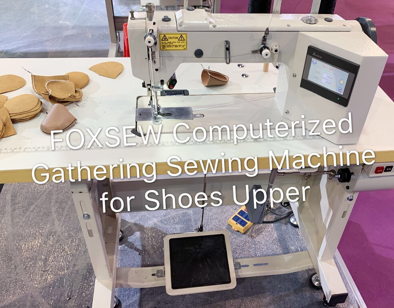 FOXSEW Computerized Gathering sewing machine for shoes Upper