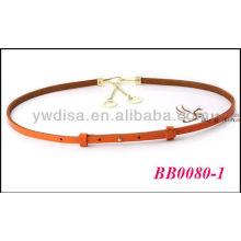 Moda coloridos fantasia senhoras cintos de couro grosso com tamanho 0.9cmW * 76cmL BB0080-1