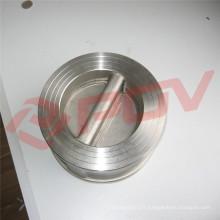 wafer type 316 en acier inoxydable de qualité alimentaire swing clapet anti-retour prix