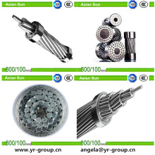 БС/стандарт/МЭК Надземная передающая линия проводник acsr Алюминиевый кабель acsr 185/10