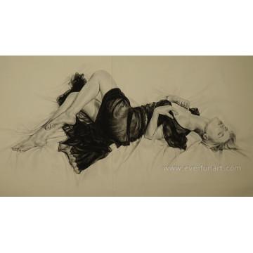 Handgemachte japanische Frau Nackte Malerei