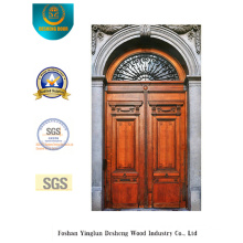 European Style Security Steel Door with Carving and Glass (m2-1003)