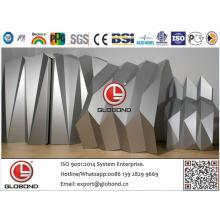 Globond Plus PVDF panneau composite en aluminium (PF057)