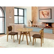 Table de café ronde en bois Table 2 Seaters à vendre