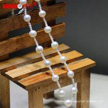Art und Weise späteste kleine natürliche Süßwasser-runde Perlen-Halsketten-Schmucksachen (E130093)