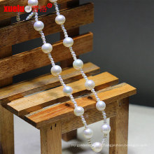 Fashion Latest Small Natural Freshwater Round Pearls Necklace Jewelry (E130093)