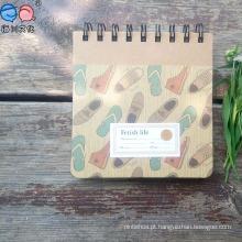 Tampa de impressão colorida mais vendida Caderno espiral quadrado