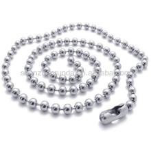 Acero inoxidable de la anchura de 1.5mm para la joyería unisex del collar de la cadena de la manera de las mujeres de los hombres