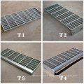 High Strength Safety Fireproof Steel Grating Stair Tread Welded with Checker Nosing