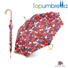Modern wooden handle umbrellas light walking stick umbrella Modern wooden handle umbrellas light walking stick umbrella