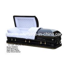 Cercueil en bois massif (ANA) pour des Services funéraires
