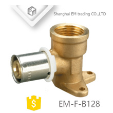 EM-F-B128 Different diameter PAP pipe fitting with brass Drop Ear Elbow pipe