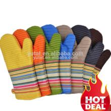 Custom design heat resistant multicolored silicone oven mitt professional oven mitt wholesale