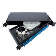 Black sliding drawer type 24 port fiber patch panel