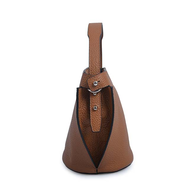 High quality leather women bucket bag