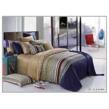 133 * 72 luxuoso padrão de algodão reativo de alta qualidade macia impressa conjuntos de edredão de tamanho king